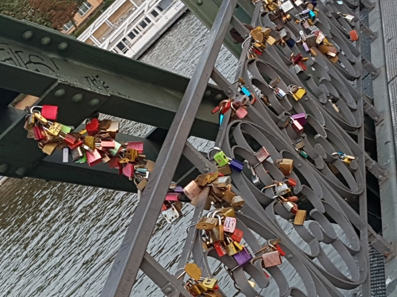 The now ubiquitous bridge with love locks